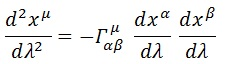 ecuación geodésica