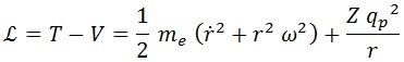 lagrangiana electrón