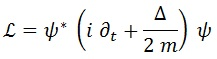 lagrangiana schrödinger