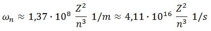 velocidad angular numérica