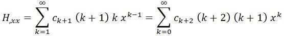 derivada segunda serie