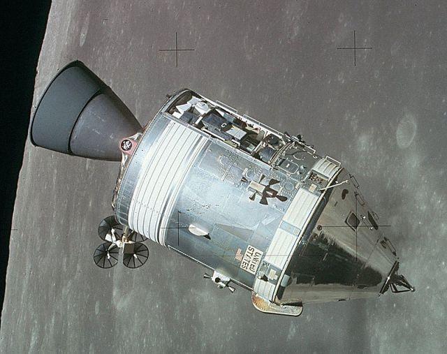 Módulo de la Apolo 15. No tiene nada que ver con EmDrive.