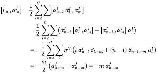 Conmutador Virasoro oscilador