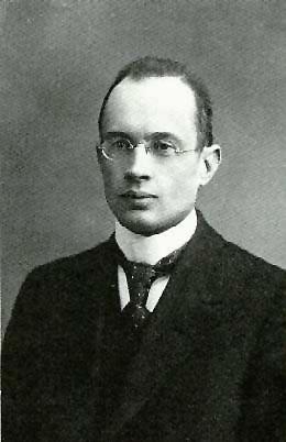 Gunnar Nordström, uno de los dos primeros físicos en calcular el campo gravitatorio creado por un agujero negro cargado.