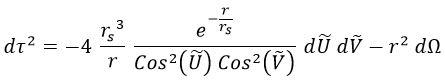 Métrica Penrose cono luz