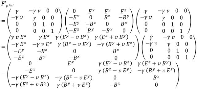 Transformación campo electromagnético 2