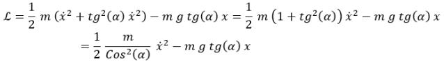 Lagrangiana modificada